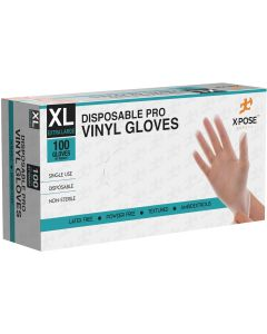 X-Large Clear Vinyl Disposable Gloves 4.5 Mil