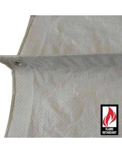 White Fire Retardant Tarps 21' x 20' - Case of 4