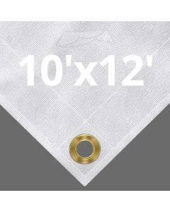 10 oz White Canvas Tarps 10' x 12'