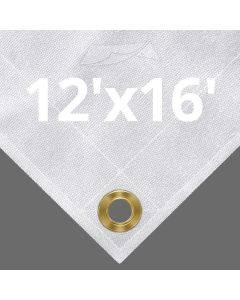 10 oz White Canvas Tarps 12' x 16'