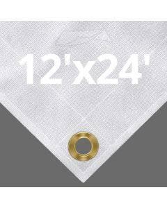10 oz White Canvas Tarps 12' x 24'