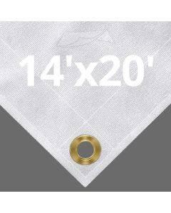 10 oz White Canvas Tarps 14' x 20'