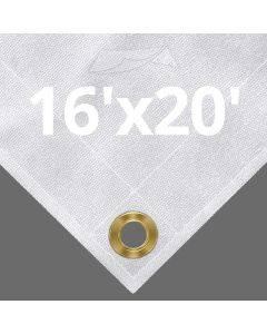 10 oz White Canvas Tarps 16' x 20'