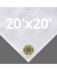 10 oz White Canvas Tarps 20' x 20'