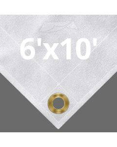 10 oz White Canvas Tarps 6' x 10'
