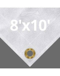 10 oz White Canvas Tarps 8' x 10'