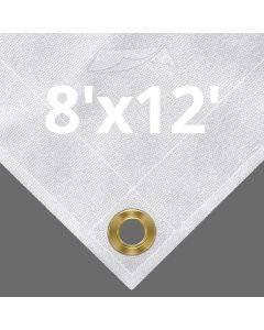 10 oz White Canvas Tarps 8' x 12'