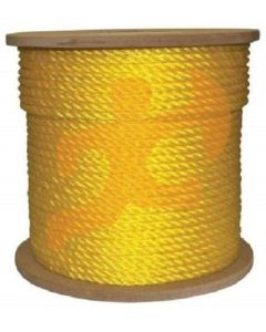 3/8 Inch Yellow Twisted Poly Rope
