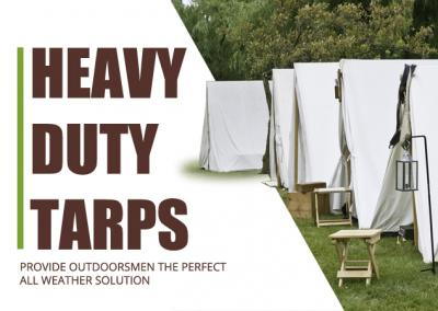 Heavy Duty Tarps Provide Outdoorsmen the Perfect All Weather  Solution
